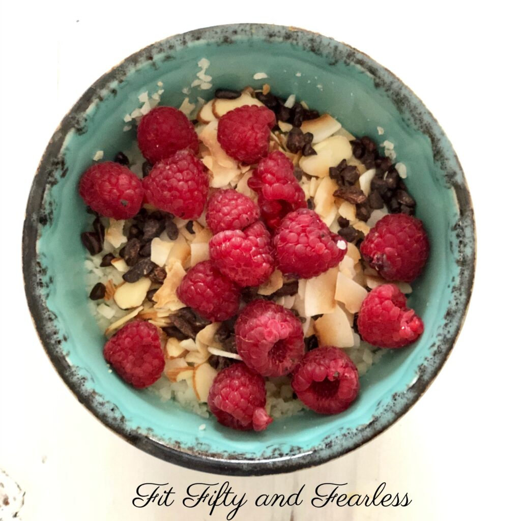 AIP breakfast no oats oatmeal by Fit Fifty and Fearless